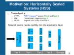motivation horizontally scaled systems hss