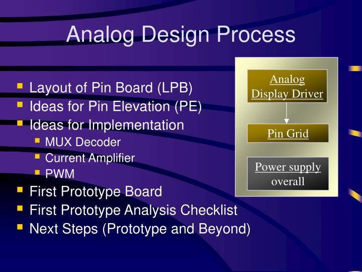 Analog Design Process
