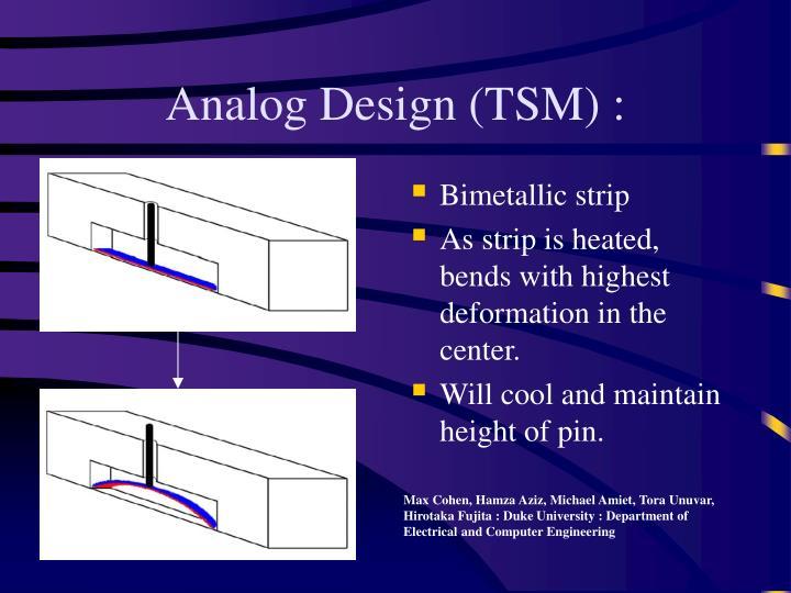 Analog Design (TSM) :