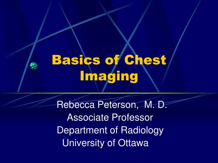 basics of chest imaging n.