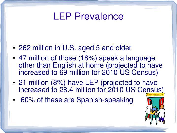 Lep prevalence