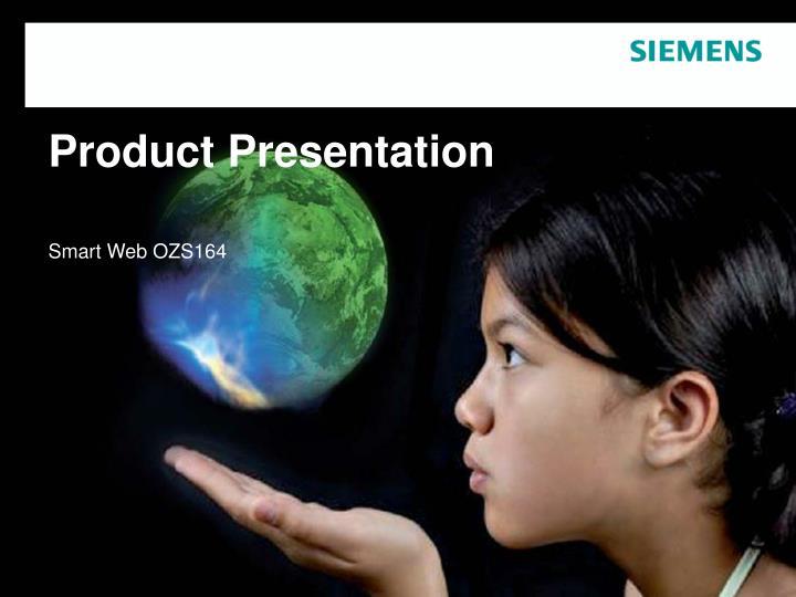 product presentation n.
