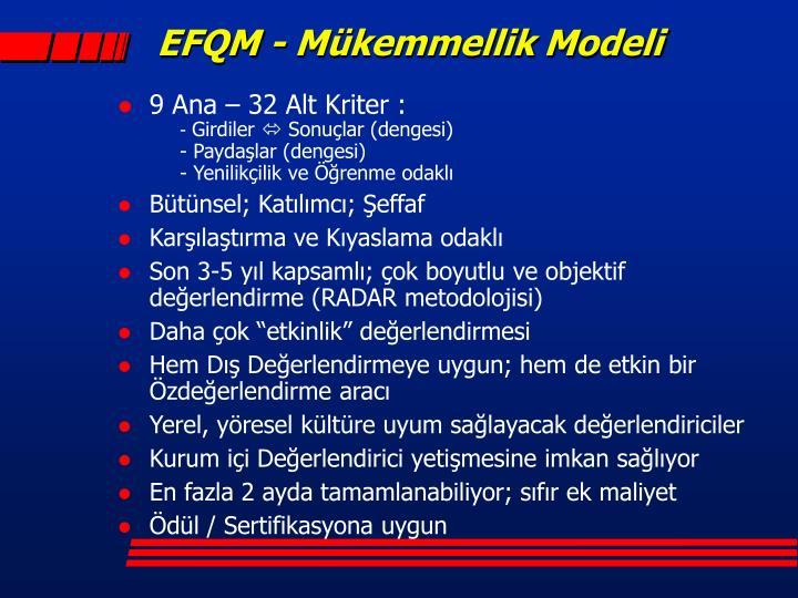 EFQM - Mükemmellik Modeli