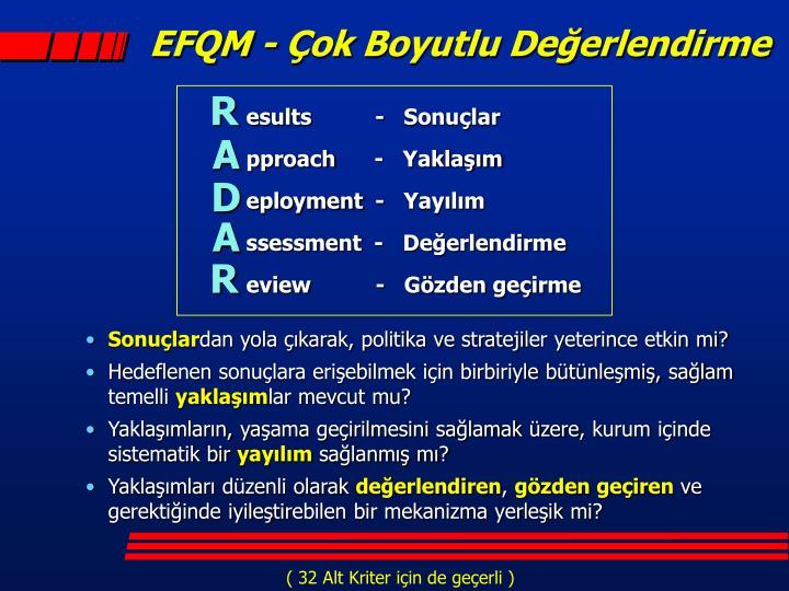 EFQM - Çok Boyutlu Değerlendirme
