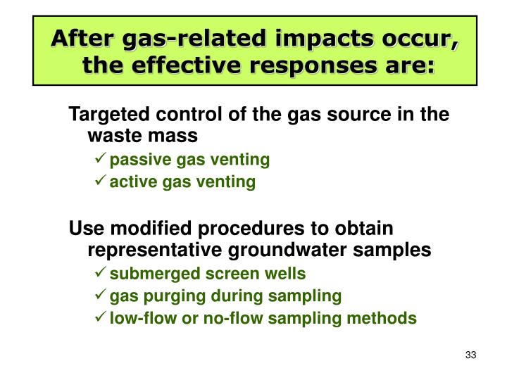 After gas-related impacts occur,