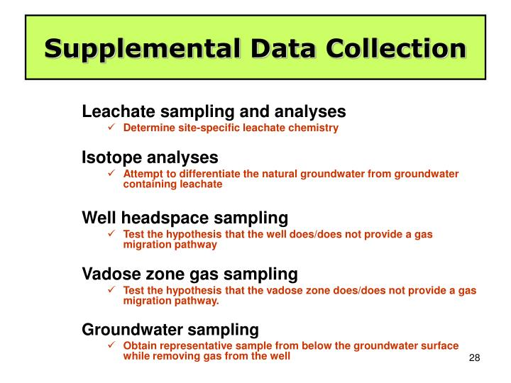 Supplemental Data Collection
