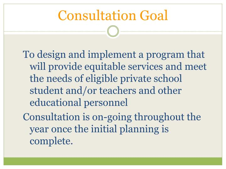 Consultation Goal