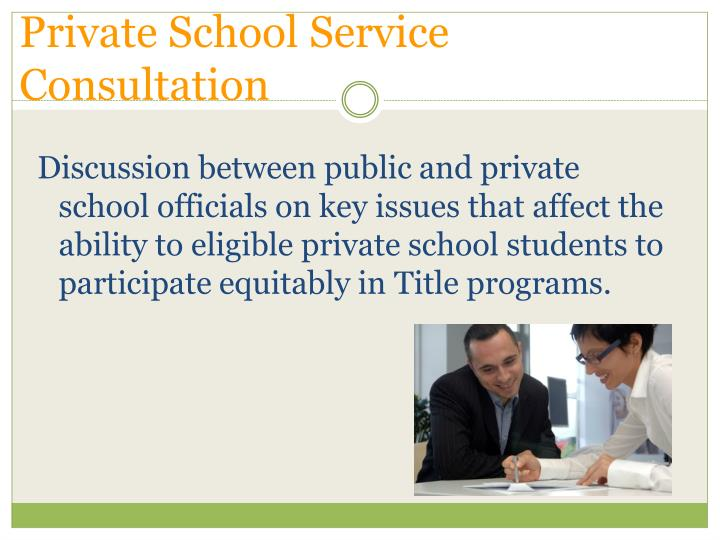 Private School Service Consultation