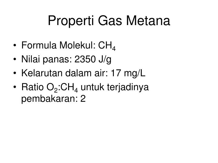 Properti Gas Metana