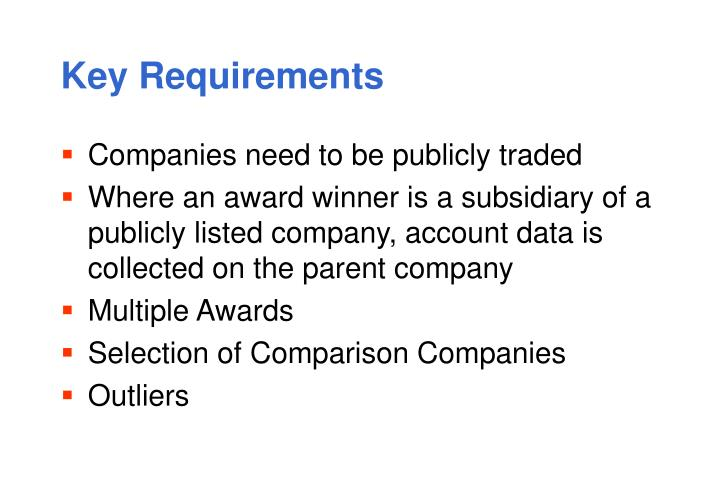 Key Requirements