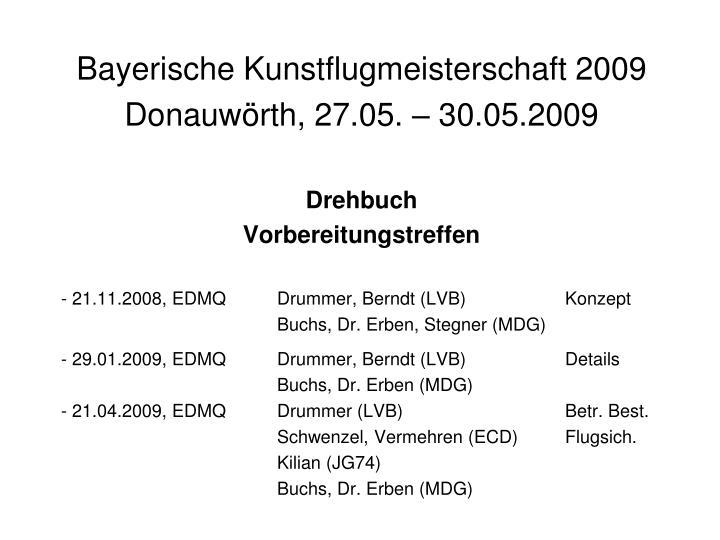 Bayerische Kunstflugmeisterschaft 2009