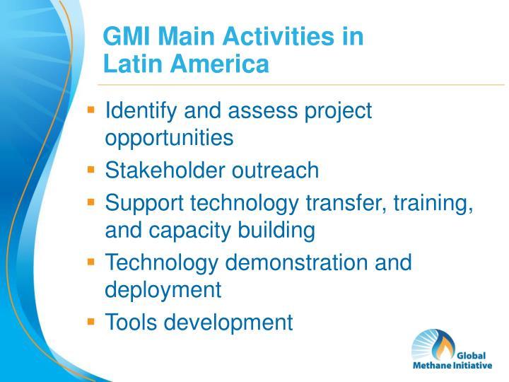 GMI Main Activities in