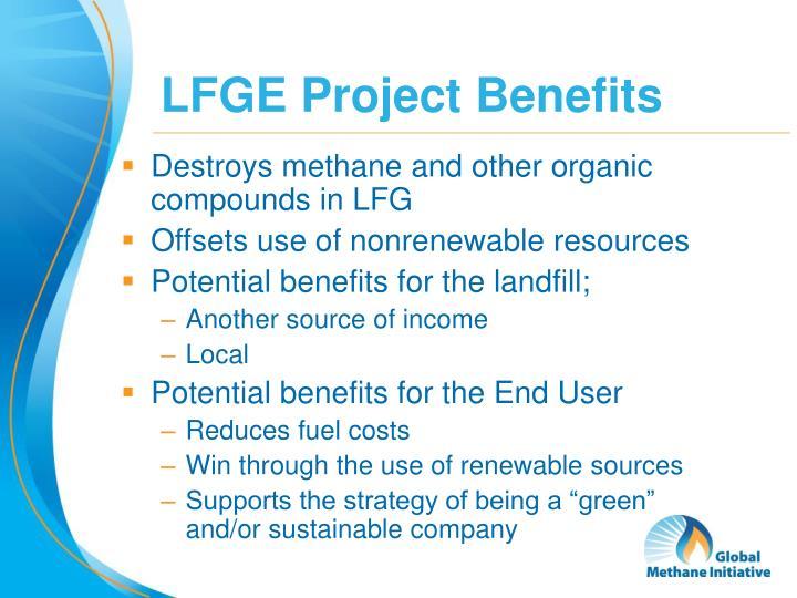 LFGE Project Benefits