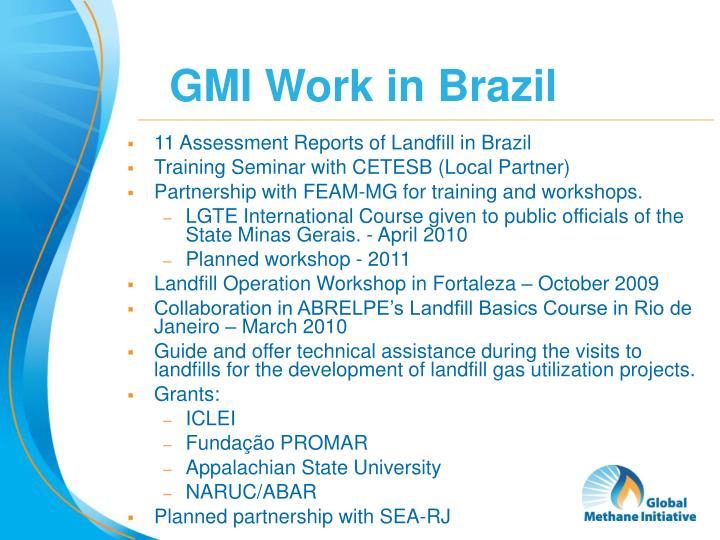 GMI Work in Brazil