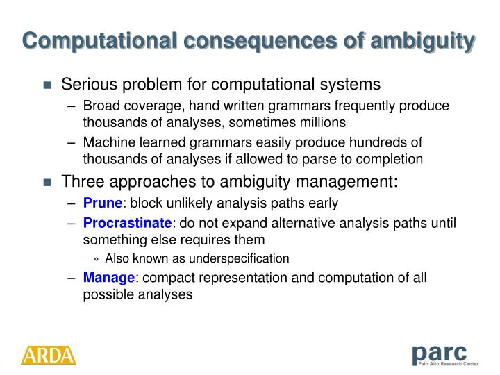 Computational consequences of ambiguity