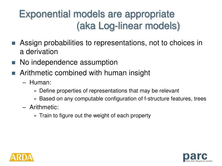 Exponential models are appropriate