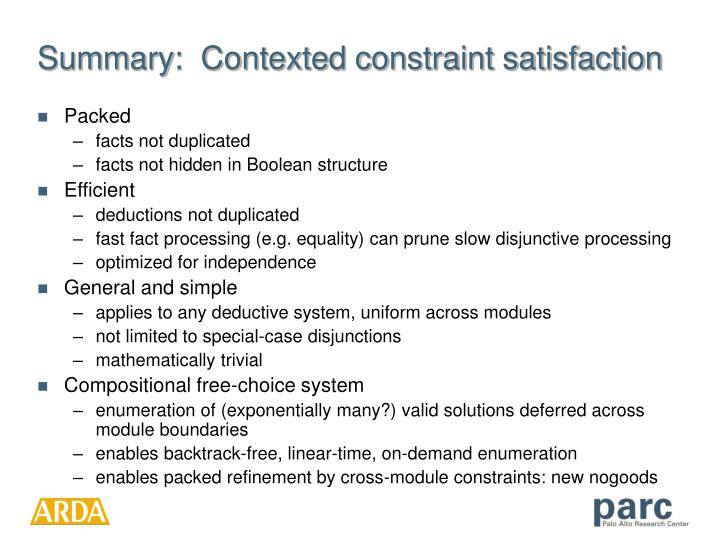 Summary:  Contexted constraint satisfaction
