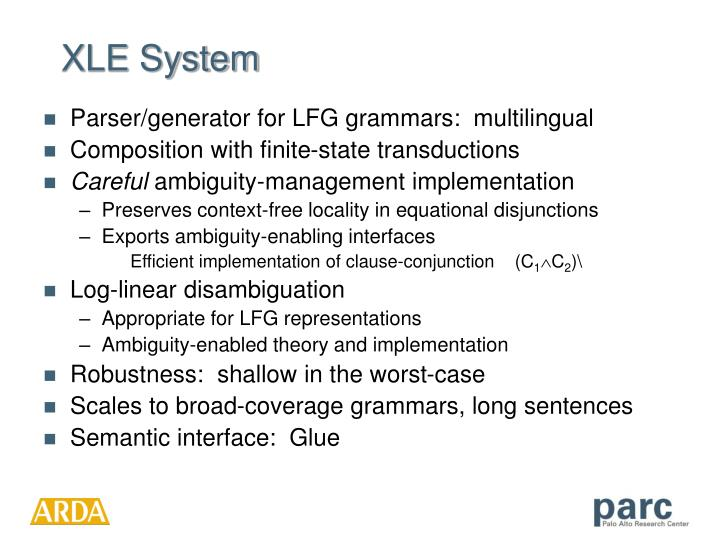 XLE System