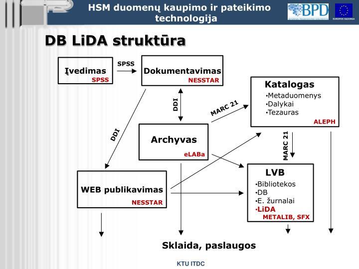 DB LiDA struktūra