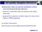 air quality daughter directives