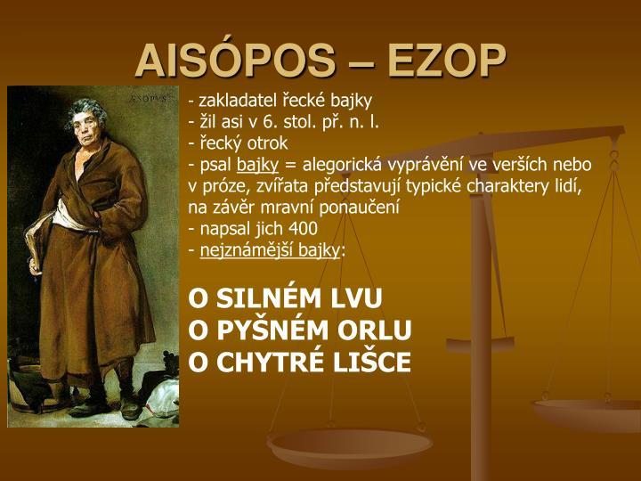 AISÓPOS – EZOP