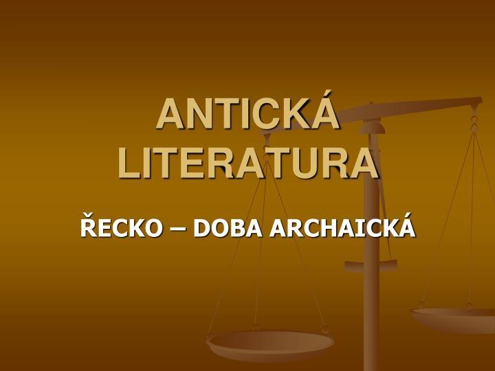 Antick literatura