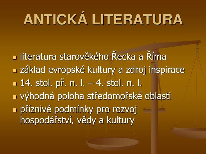 Antick literatura1