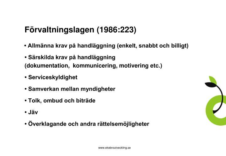 Förvaltningslagen (1986:223)