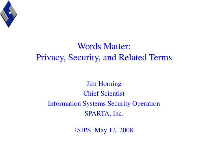 words matter privacy security and related terms