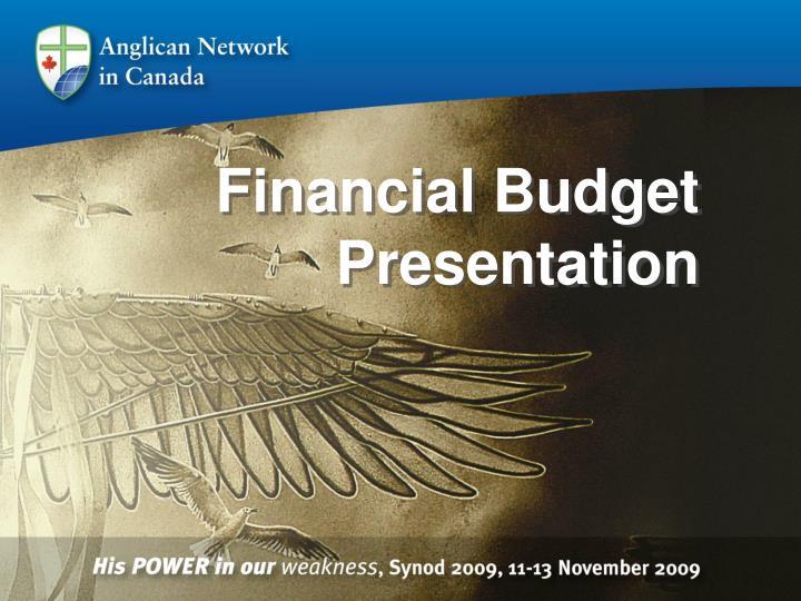 Financial Budget Presentation