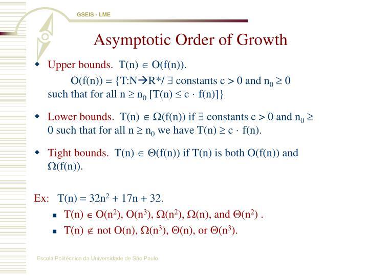 Asymptotic Order of Growth
