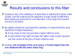 results and conclusions to this fiber
