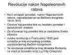 revolucije nakon napoleonovih ratova