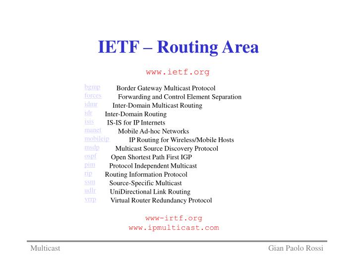Ietf routing area