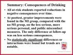 summary consequences of drinking