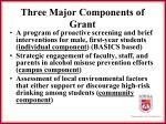 three major components of grant