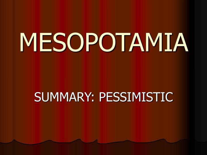 mesopotamia n.