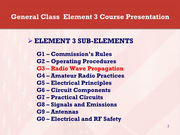 General class element 3 course presentation
