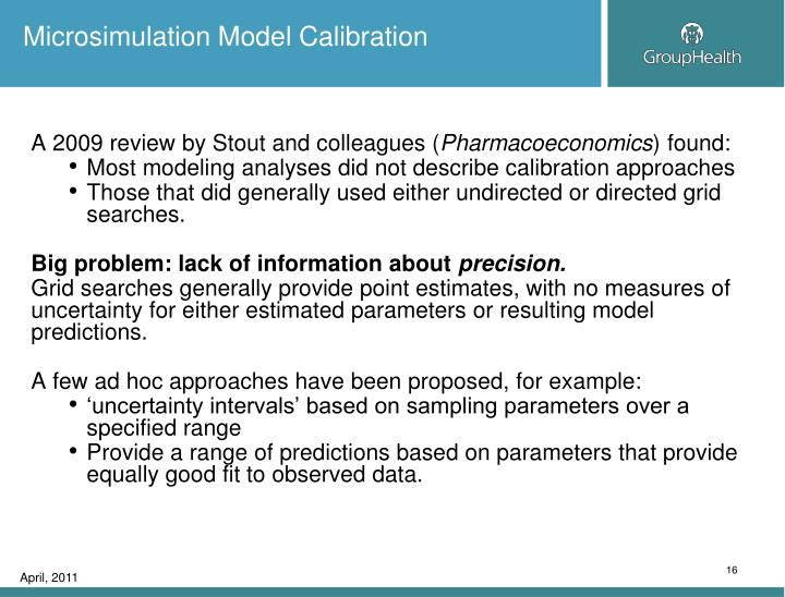 Microsimulation Model Calibration