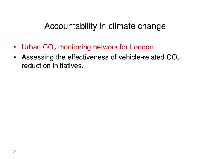 Accountability in climate change