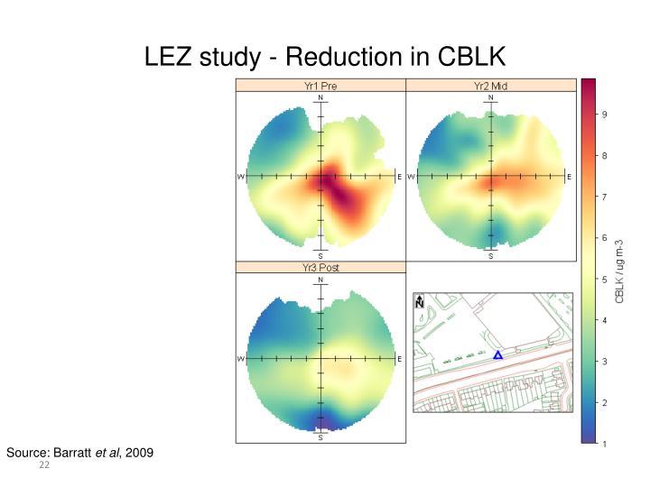 LEZ study - Reduction in CBLK