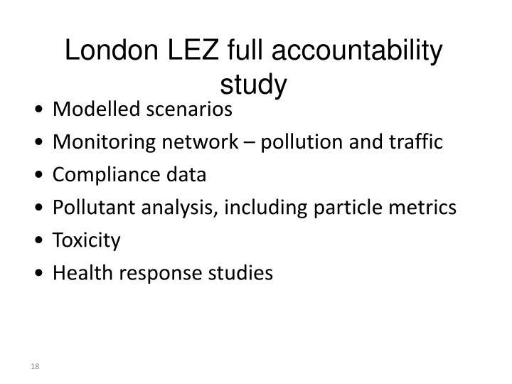 London LEZ full accountability study