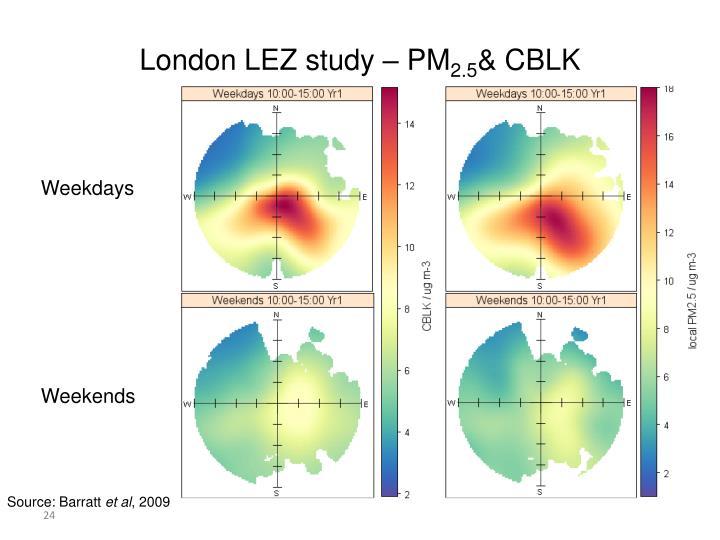 London LEZ study – PM