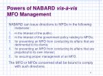 powers of nabard vis vis mfo management