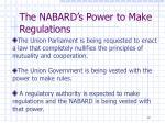 the nabard s power to make regulations