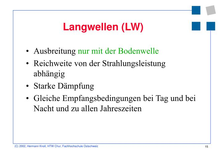 Langwellen (LW)