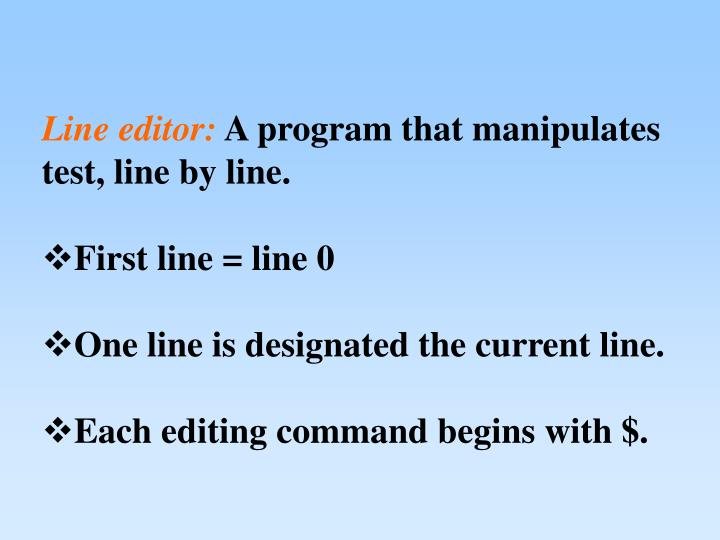 Line editor: