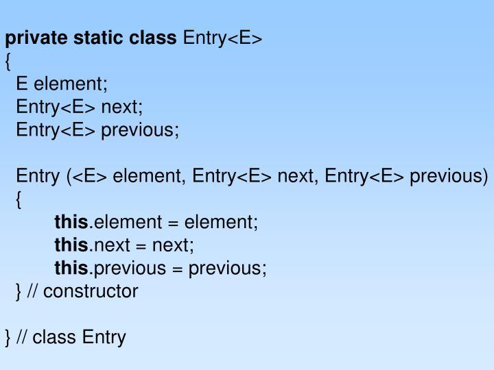 private static class