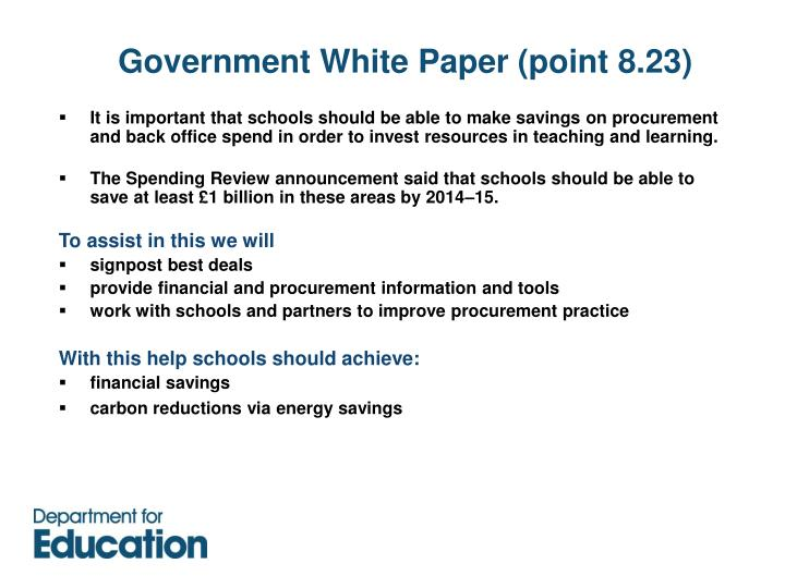 Government white paper point 8 23