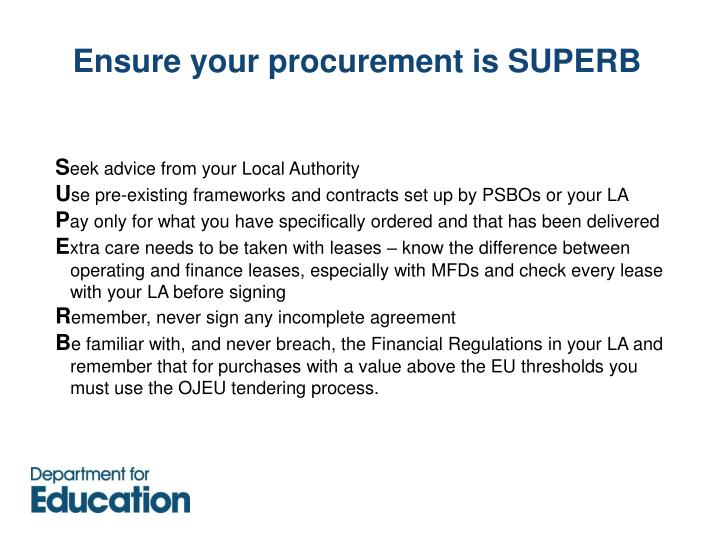 Ensure your procurement is SUPERB